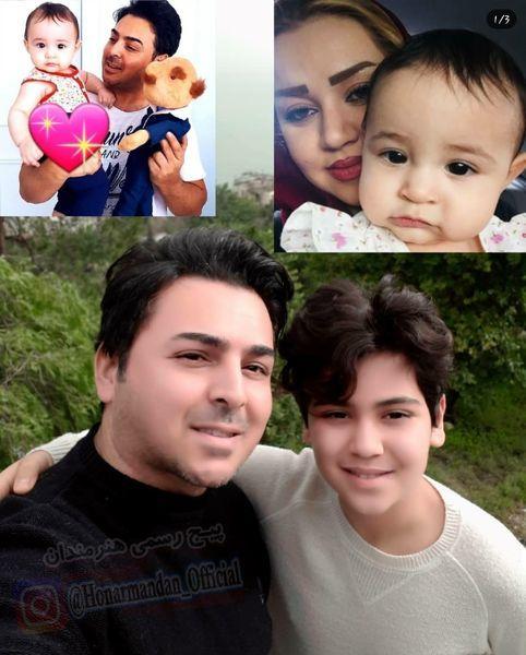 بازیگر خط قرمز به همراه فرزندانش + عکس