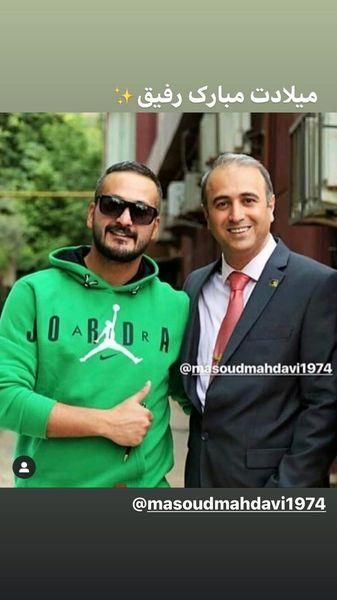میلاد کی مرام در کنار دوستش + عکس