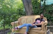 سینا مهراد در باغی زیبا + عکس