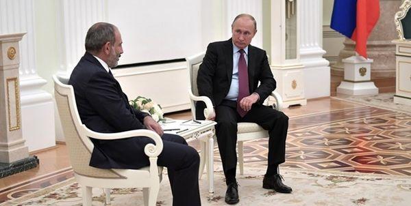 سفر پاشینیان به مسکو برای گفتوگو با پوتین