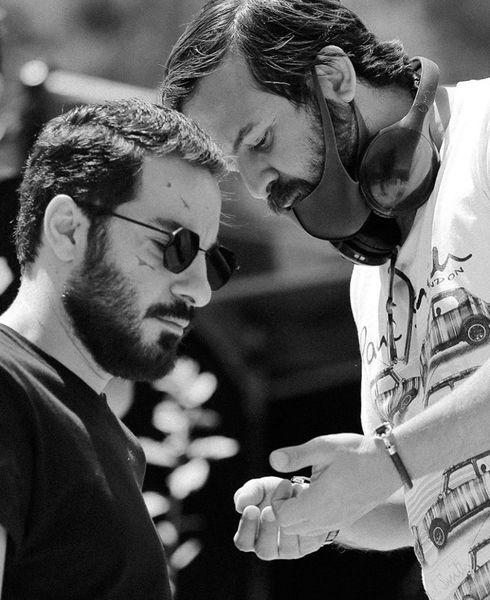هومن سیدی و نوید محمدزاده در حال مشورت + عکس