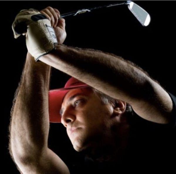 گلف بازی کردن ایرج نوذری + عکس
