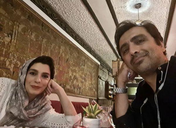 حال خوب امین زندگانی و همسرش + عکس