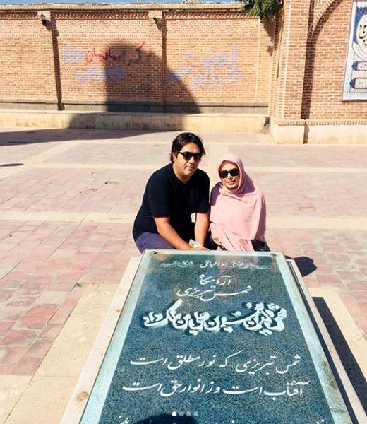 صبا راد و همسرش مهمان مزار شمس تبریزی+عکس