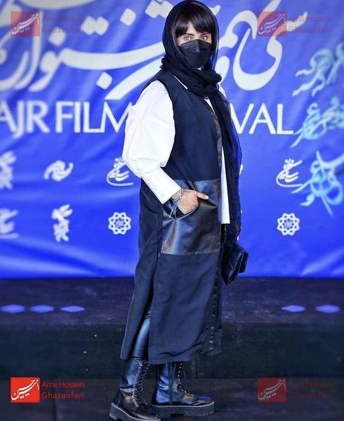 استایل خفن الناز شاکردوست در سی و نهمین جشنواره فیلم فجر + عکس