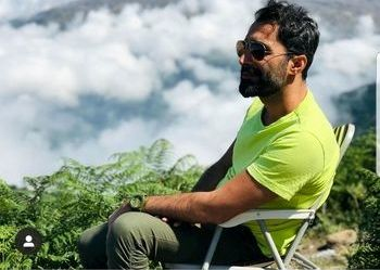 هادی کاظمی در دل طبیعت + عکس