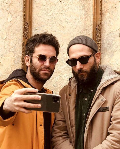 سلفی هوتن شکیبا با دوستش + عکس