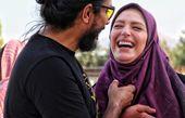 خنده های از ته دل نگین معتضدی و همسرش + عکس