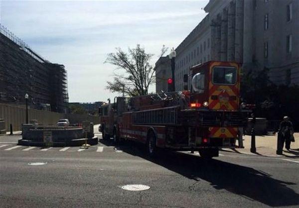 تخلیه اضطراری ساختمان کنگره آمریکا