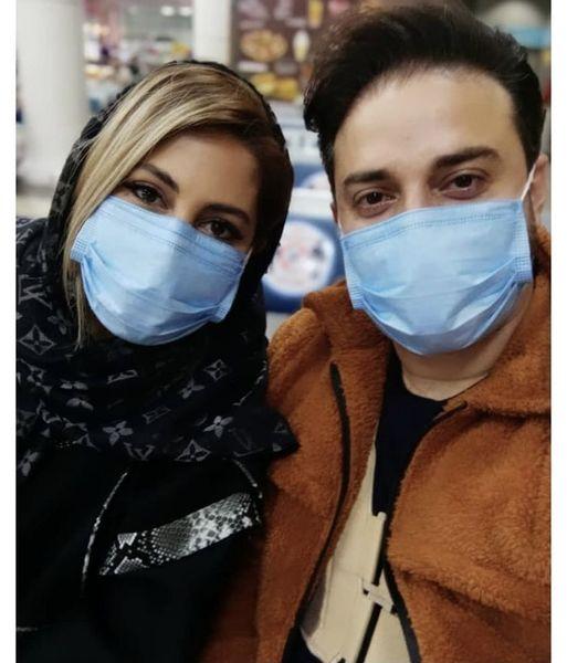 سلفی جدید بابک جهانخش با همسرش + عکس