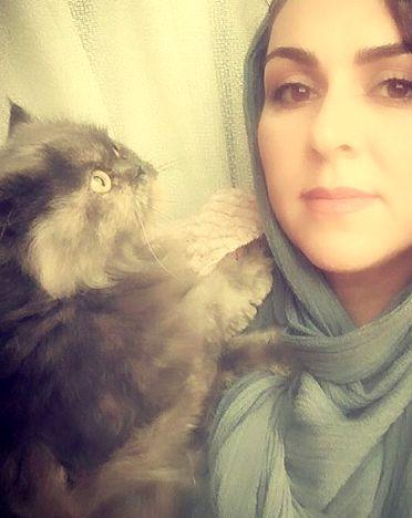 شیوا ابراهیمی و حیوان خانگی اش+عکس
