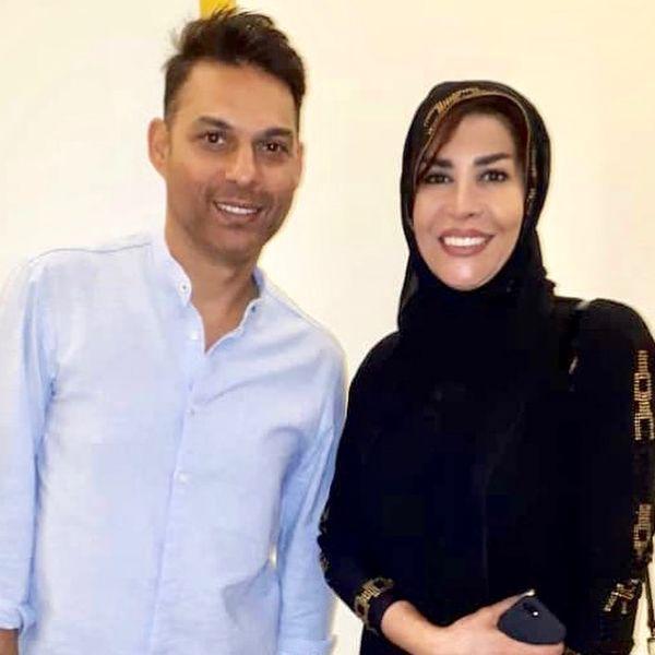 عکس خانم مجری با برگزیدگان جشن حافظ