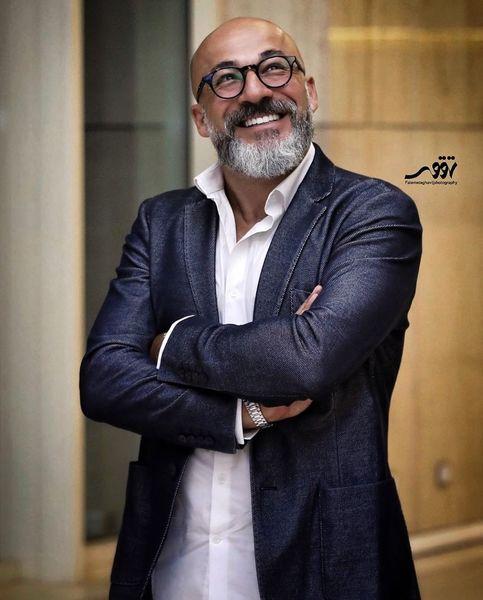 امیر آقایی با تیپ همیشگی اش+عکس