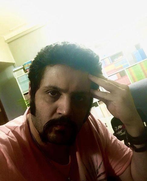 ریش سیبیل لاتی آقای بازیگر جوان + عکس
