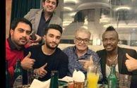 شام شیک حمید لولایی با مهمان خارجی اش+عکس