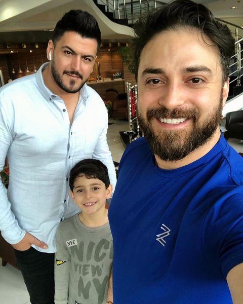 بابک جهانبخش استقلالی و پسر زیبایش+عکس