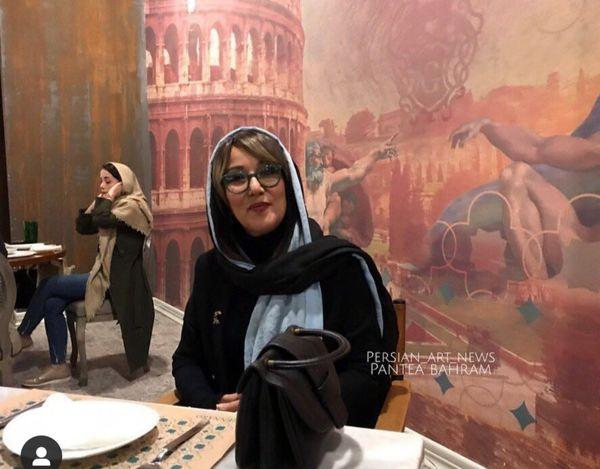 پانته آ بهرام در رستوران+عکس