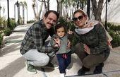 امیر کربلایی زاده با همسر و پسرش در خیابان + عکس