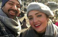 ستایش و همسرش با تیپی متفاوت در خارج از کشور+عکس