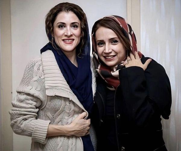 ویشکا آسایش در آغوش دوستش + عکس