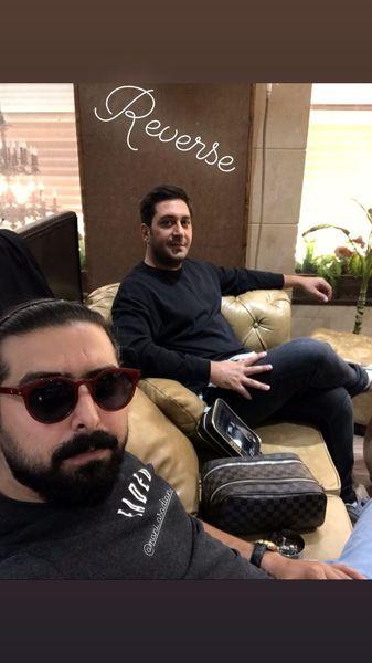 وحید شیخ زاده مهمان خانه دوستش شد + عکس
