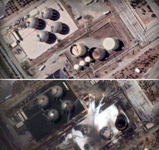 پالایشگاه تهران قبل و بعد از حادثه آتش سوزی+عکس