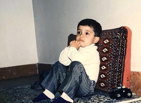 علی شادمان در کودکی + عکس