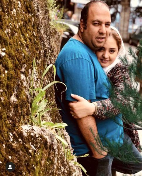 عاشقانه های نرگس محمدی و همسرش در طبیعت + عکس