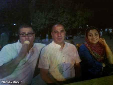 گردش شب تابستانی بازیگر وضعیت سفید و خانواده+عکس