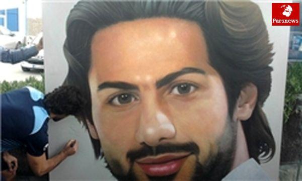 نقاش کاشانی تصویر فرهاد مجیدی را به مزایده گذاشت