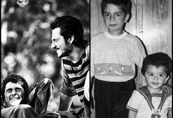 عکس بامزه کودکی عباس غزالی و برادر بازیگرش