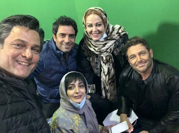 بهاره رهنما در پشت صحنه سریال گیسو + عکس