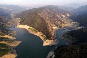 کاهش حجم آب سد شهید رجایی منطقه دودانگه ساری