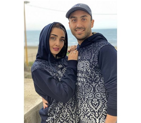 لباسهای ست دریا مرادی دشت با همسرش پویان گنجی + عکس