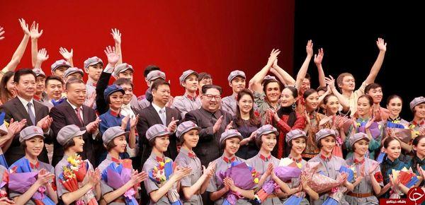 حضور «اون» در نمایش یک گروه هنری چینی/عکس