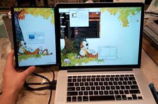 صفحه نمایش قابل حمل برای اتصال به لپ تاپ + فیلم
