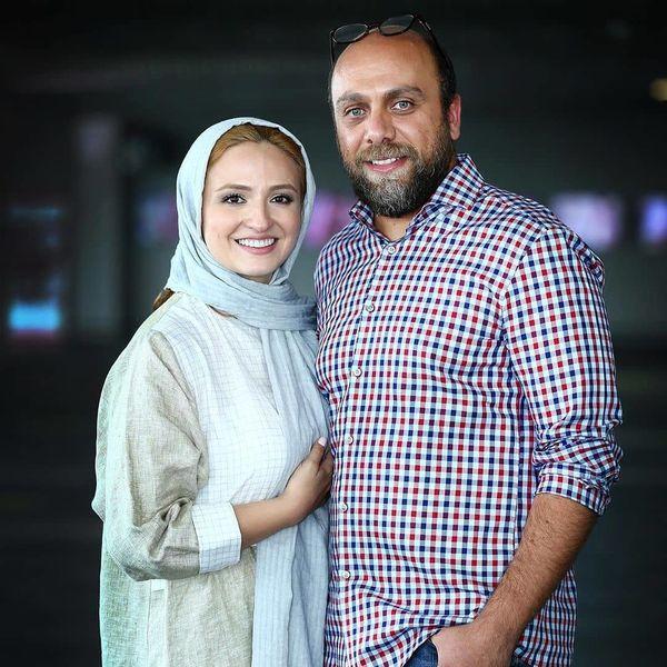 عکس احساسی گلاره عباسی و همسرش