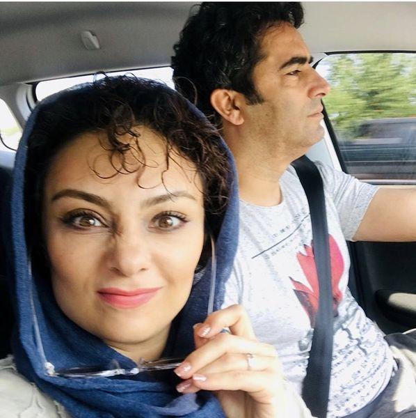 شیطنت های یکتا ناصر با همسرش + عکس
