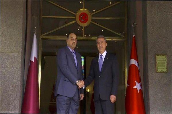 وزرای دفاع ترکیه و قطر در آنکارا دیدار کردند
