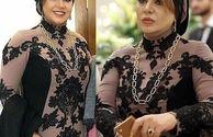 لباس مجلسی نسرین مقانلو+عکس