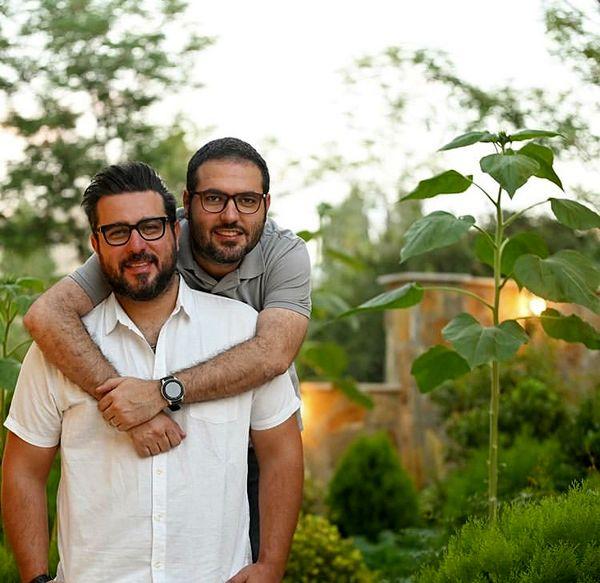 محسن کیایی و برادر کوچکش + عکس