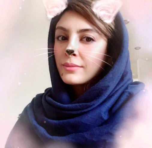 عکس گربه ای خانم بازیگر