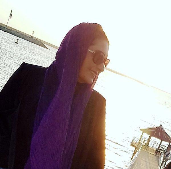 فریبا کوثری در کنار دریا + عکس