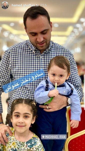 گوینده خبر شبکه سه و پسر کوچولوش + عکس