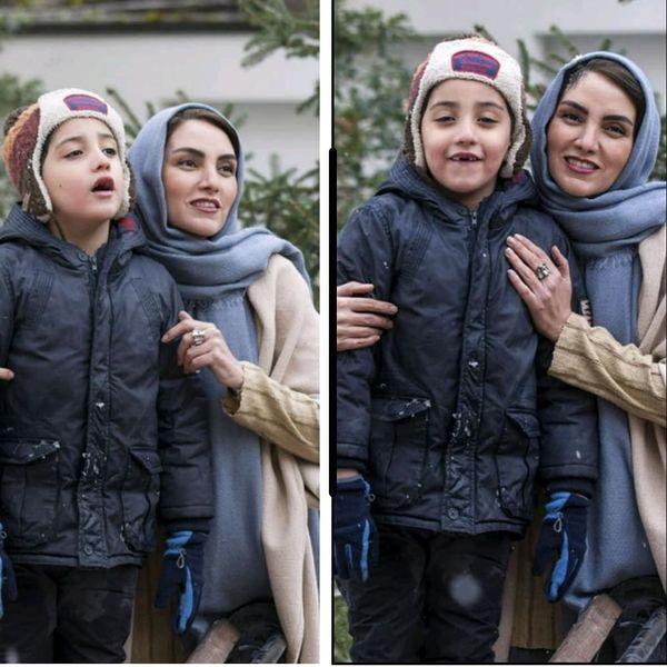 عکس همسر بازیگر و فرزند بهروز افخمی