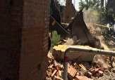 دیوار پادگان جی تخریب شد