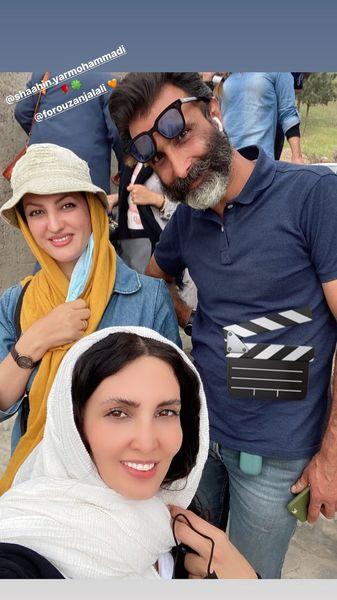 سلفی خانم بازیگر با همگارانش + عکس