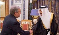 دیدار دبیرکل سازمان ملل با شاه سعودی در ریاض