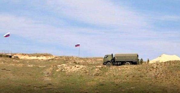 استقرار نظامیان روسیه در مرز قرهباغ