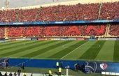 هواداران کاشیما آنتلرز در طبقه دوم ورزشگاه مستقر شدند